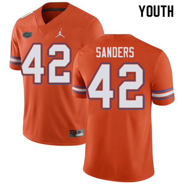 Jordan Brand Youth #42 Umstead Sanders Florida Gators College Football Jerseys Sale-Orange